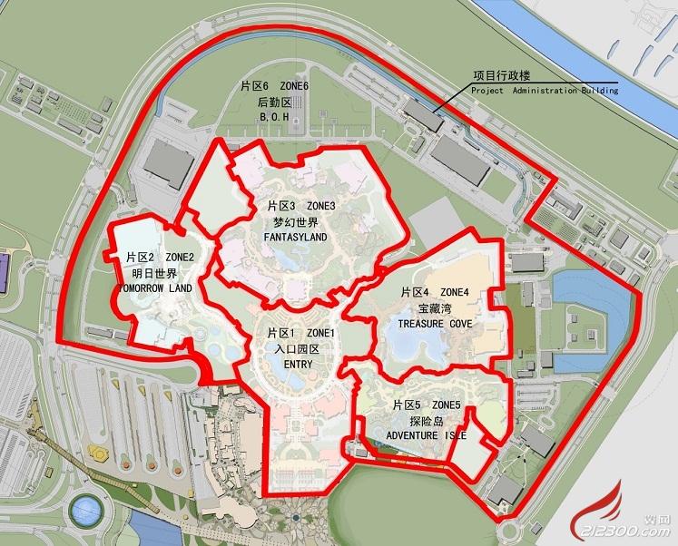 手绘上海游览地图