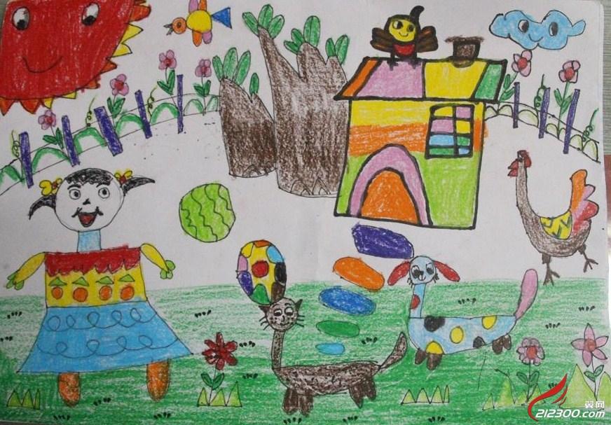 小精灵幼儿园 我爱我家 亲子绘画