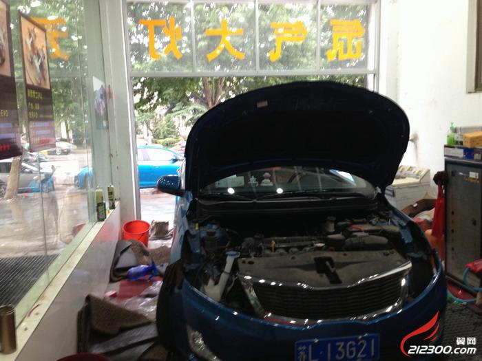 锦城1号车灯升级 k2升级灯光系统 汽车改装维修保养 高清图片