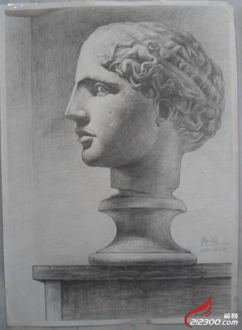 儿子画的石膏像,马赛是写生