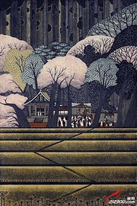 morimura(雷森村)的木刻版画作品 动漫