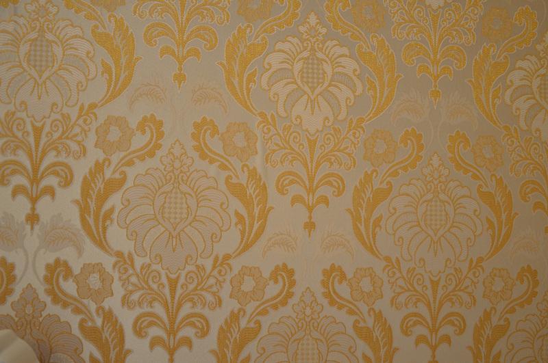 欧式棕色印花墙布