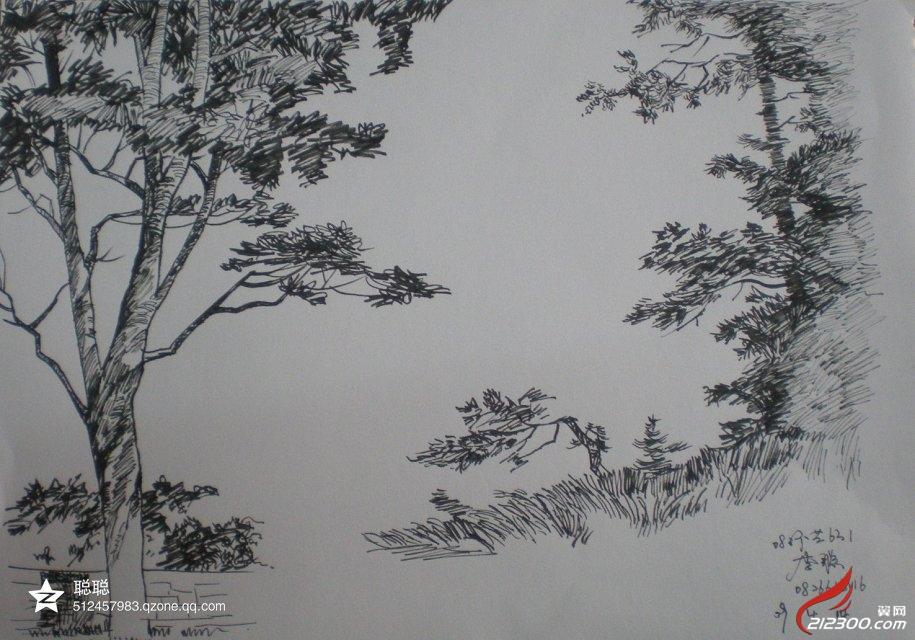 大学时的手绘