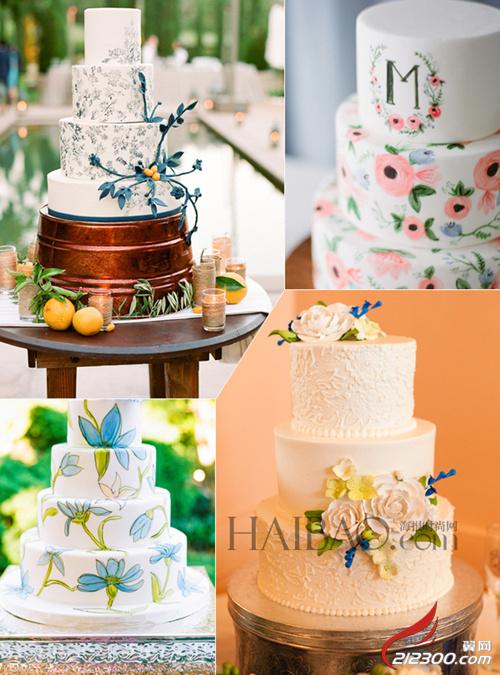 手绘艺术婚礼蛋糕:用色彩表达对婚礼新人的甜蜜祝福