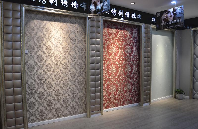 领绣刺绣墙布 中国高端墙布领导者 穿 领绣刺绣墙布, 品 墙上舞动的美