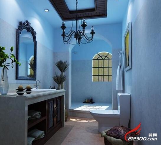 欧式浅蓝色墙纸电视墙背景