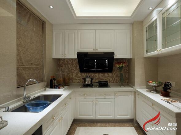 欧美风情137平米三居室厨房装修效果图