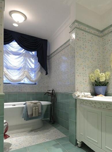 卫浴间瓷砖铺贴效果图|家庭装修-丹阳翼网