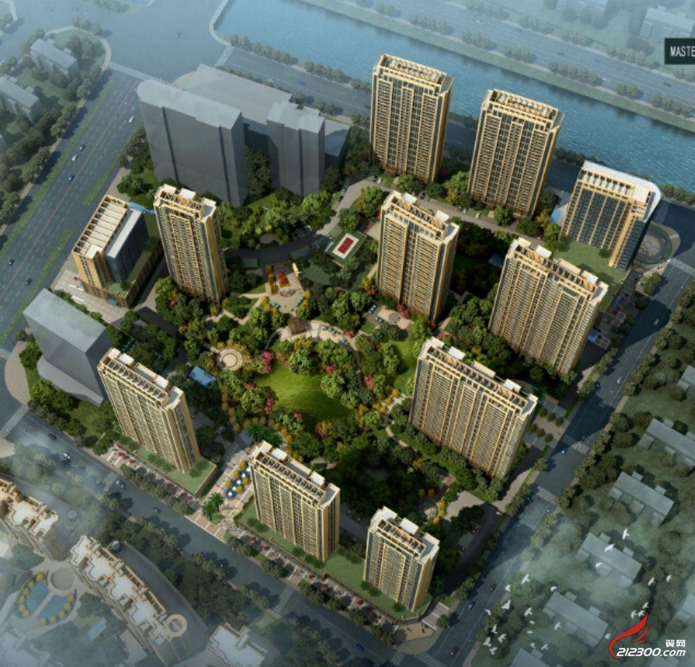 项目鸟瞰图:超低建筑密度